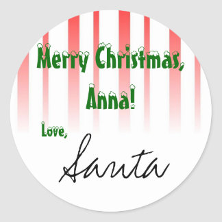 "Customize it! From ""Santa"" gift tag Round Sticker"