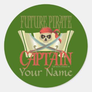 CUSTOMIZE IT! Future Pirate Round Stickers