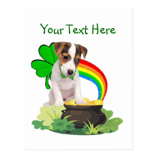 Customize It Jack Russell Puppy St Pattys Day Card