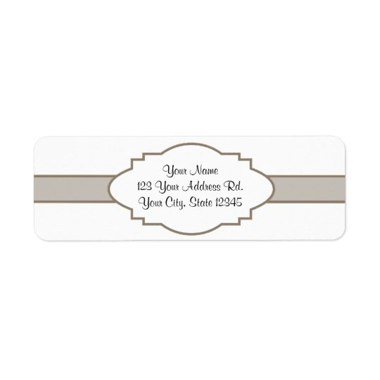 Customize It! Nameplate Return Address Label