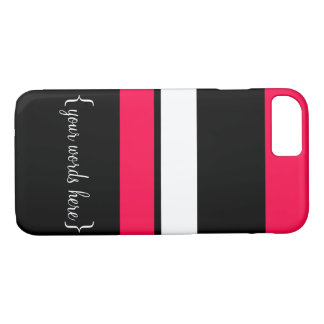 Customize It pink and black striped case