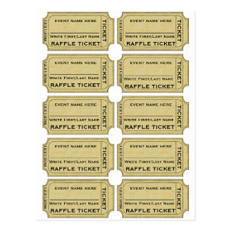 Customize It! Raffle Tickets Postcard