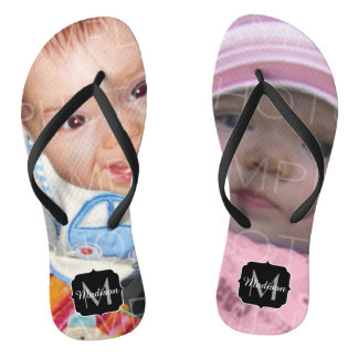 Customize it with Your photos Monogram Flip Flops