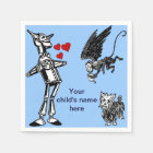 Customize it: Wizard of Oz, Tin Man, Toto Monkey Paper Napkin