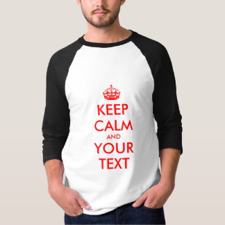 Customize Keep Calm T shirts with your own text