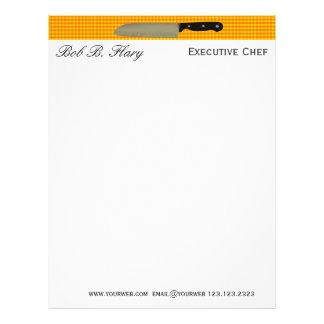 Customize ME Chef Santoku Knife Culinary Letterhead