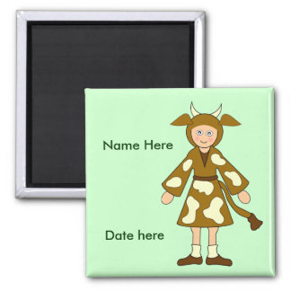 Customize Me -- Children's Nativity Ox Magnet