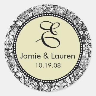 Customize Me ...Monogram Wedding Stickers