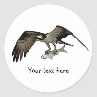Customize Me! Osprey with Fish Classic Round Sticker