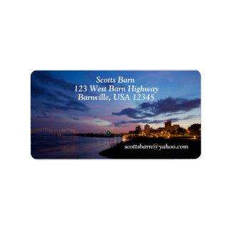 Customize - Memphis Skyline Label