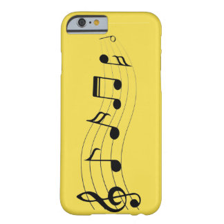 Customize Musical Notes Barely There iPhone 6 Case