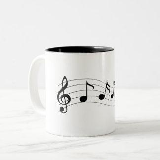 Customize Musical Notes Two-Tone Coffee Mug