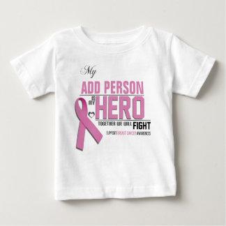Customize MY HERO Baby Shirt:  Breast Cancer Baby T-Shirt