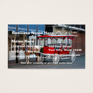 New orleans business cards business card printing zazzle ca customize new orleans carriage ride business card reheart Images