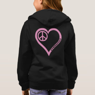 Customize Peace Love Gymnasitcs Girls Shirt Hoodie