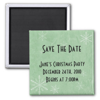 CUSTOMIZE PERSONALIZE Snowflake Paper 3 - Green Magnet
