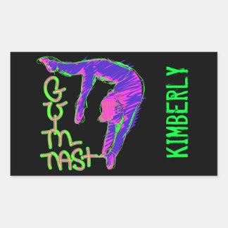 Customize Personalized Gymnastics Stickers