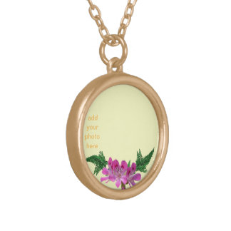 customize photo gold plated necklace