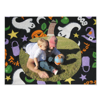 Customize Photo Happy Halloween Pumpkin