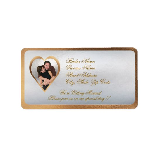 Customize Photo Wedding Invitation Return Address Label