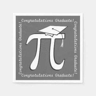 Customize Pi Graduation Paper Napkins - Math Grad