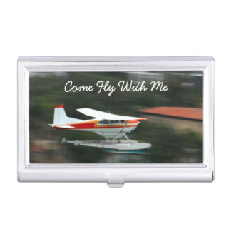 Customize Plane in Motion photo Business Card Holder