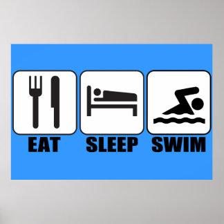 Customize ProdEat Sleep Swim Gear Poster