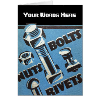 Customize Rivets, Nuts and Bolts Card