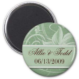Customize sage green save the date magnets