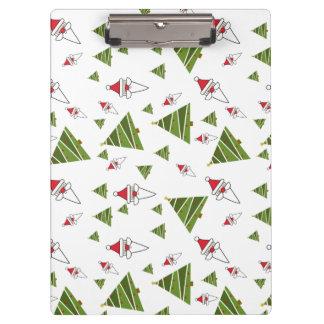 Customize Santa and Christmas Tree Clipboard