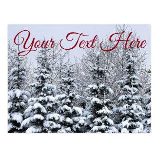 Customize, Snowy Trees Postcard