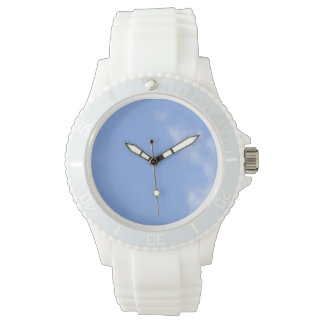 customize sporty white silicon women's watch