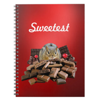 Customize Sweetest Day Chocolate Chipmunk Notebook