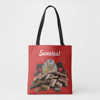 Customize Sweetest Day Chocolate Chipmunk Tote Bag