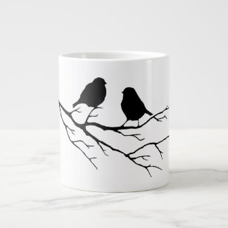 Customize the Color Two Birds in Tree Nature Large Coffee Mug