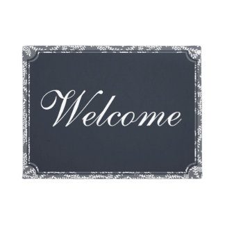 Customize the colour and text! Welcome Doormat