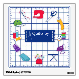 Customize the Label Quilt Time Wall Decal