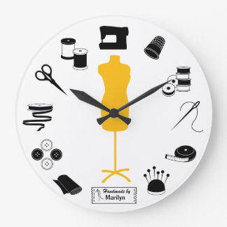 Customize the Label Sew Right Large Clock