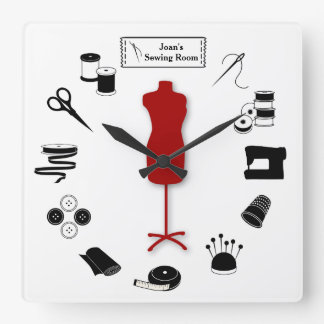 Customize the Label Sew Right Wall Clocks