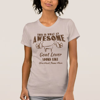 CUSTOMIZE THIS Awesome Goat Lover Obie Goat T-Shirt