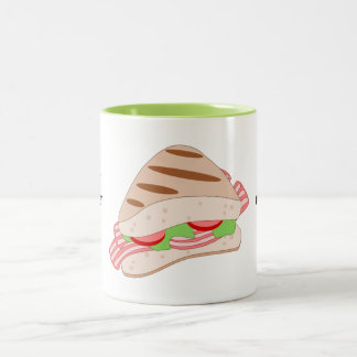 Customize this BLT Sandwich Graphic Two-Tone Coffee Mug