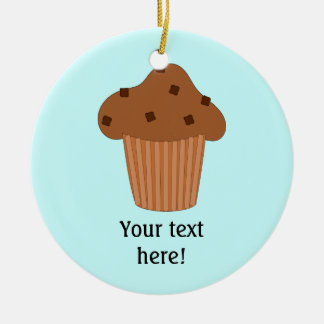 Customize this Choc Chip Muffin graphic Ceramic Ornament