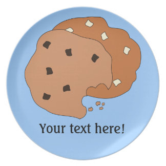 Customize this Cookies graphic Party Plate