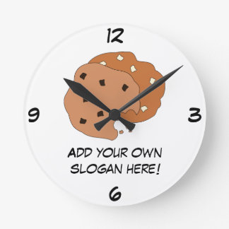Customize this Cookies graphic Round Clock