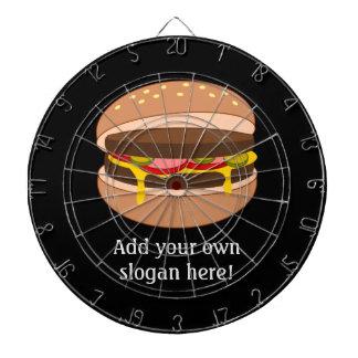 Customize this Hamburger graphic Dart Boards