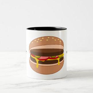 Customize this Hamburger graphic Two-Tone Coffee Mug