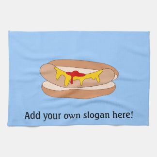 Customize this Hot Dog graphic Kitchen Towel