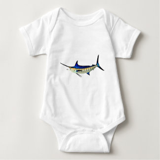 Customize this Marlin with your Boat Name Baby Bodysuit