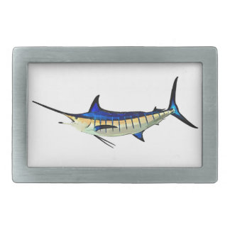 Customize this Marlin with your Boat Name Belt Buckle