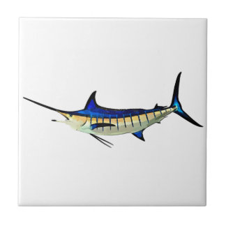Customize this Marlin with your Boat Name Ceramic Tile